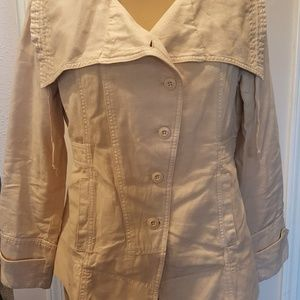 SUNDANCE SIZE PL COTTON LINEN JACKET.